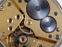 Machine of a pocket watch Royalty Free Stock Image