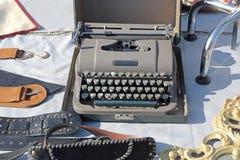 Machine portative de machine à écrire image libre de droits