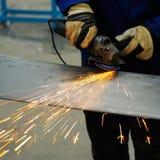 Machine pour l'acier de meulage Photos stock