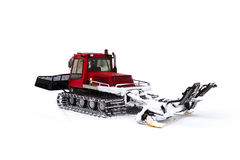 A machine for preparing a ski slope Royalty Free Stock Images