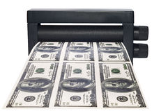 Machine print money Royalty Free Stock Photos