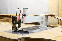 Machine for processing wood Royalty Free Stock Photos