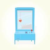 Machine professionnelle de griffe de jouet de coeur Photographie stock