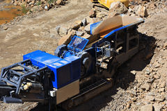 Machine in the quarry Royalty Free Stock Photo