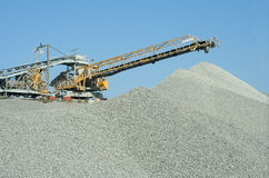 Machine at quarry. Heavy duty machine at a stonequarry in Belgium Royalty Free Stock Image