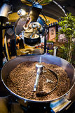 Machine for roast coffee beans Royalty Free Stock Image