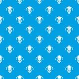 Machine robot pattern seamless blue. Machine robot pattern repeat seamless in blue color for any design. Vector geometric illustration Royalty Free Stock Images