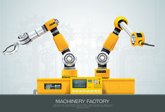 Machine robotic robot arm hand factory Royalty Free Stock Photos