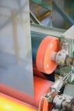 Machine role and zinc sheet Stock Photo