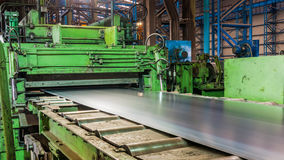 Machine rolling steel Stock Images