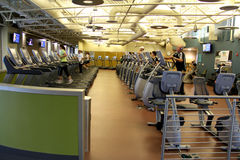 Machine Room. Image of the exercise machine room at the Herriman Recreation Center in Utah Stock Photography
