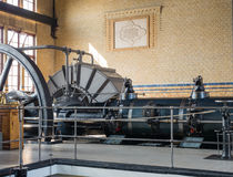 Machine room of historic steam pumping station Royalty Free Stock Image