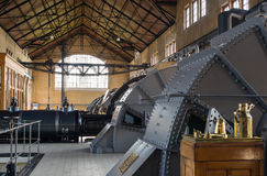 Machine room of historic steam pumping station Stock Photos