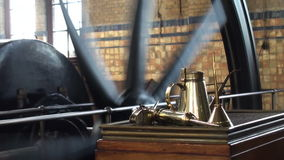 Machine room of historic steam pumping station stock video footage