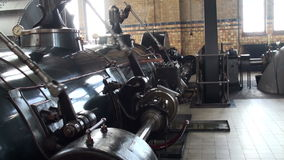 Machine room of historic steam pumping station stock video