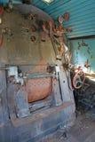 Machine room of old locomotive Stock Photography