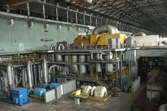 Machine room. In thermal power plant Stock Image