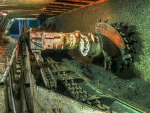 Machine. Ruda Slaska, Poland - November 05, 2015: A shearer l machine working  in a coal mine Stock Images