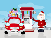 Machine of Santa Claus fuel happiness Stock Photos