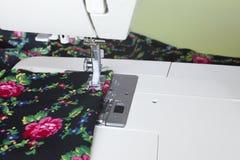 Machine sewing Stock Image