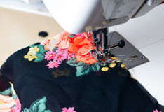 Machine sewing Stock Photography