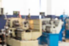 Machine Shop in Blur Royalty Free Stock Photo