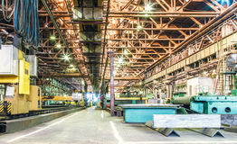 Machine shop of metallurgical works Royalty Free Stock Photography