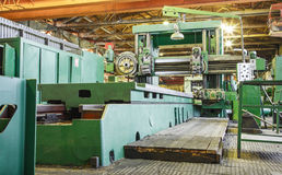 Machine shop of metallurgical works Stock Photo