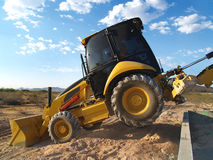 Machine Shovel on Excavation Site - Horizontal Royalty Free Stock Image