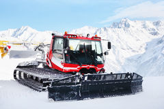 Machine for skiing slope preparations Royalty Free Stock Images