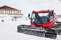 Machine for skiing slope preparations Stock Image