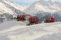 Machine for snow preparations Royalty Free Stock Images
