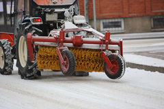 Machine for snow removal Royalty Free Stock Photos