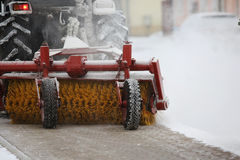 Machine for snow removal Royalty Free Stock Photography