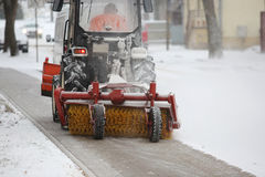 Machine for snow removal Royalty Free Stock Image