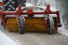 Machine for snow removal Stock Photography