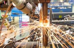 Machine Spot nut. Automotive Industry Royalty Free Stock Photography