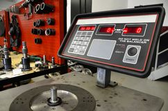 Torque Converter Testing Station. A machine station to balance and test of a torque converters Royalty Free Stock Photography
