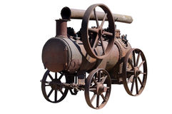Machine by a steam engine Royalty Free Stock Photo