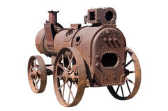 Machine by steam engine Royalty Free Stock Image