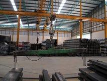 Machine in Steel warehouse Stock Photo