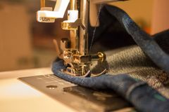 Machine stitch of products. royalty free stock image