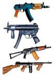 Machine   submachine gun boss shop   kalashnik thompson Royalty Free Stock Photo