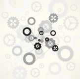 Machine technology gears. retro gearwheel mechanism bacground Stock Photography