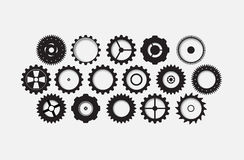 Machine technology gears. retro gearwheel mechanism bacground Stock Images