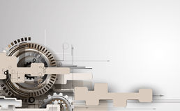 Machine technology gears. retro gearwheel mechanism bacground Royalty Free Stock Photography