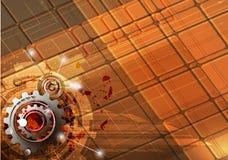 Machine technology gears. retro gearwheel mechanism bacground Stock Photos