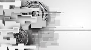 Machine technology gears. retro gearwheel mechanism bacground Royalty Free Stock Photography