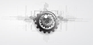 Machine technology gears. retro gearwheel mechanism bacground Royalty Free Stock Photo