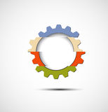 Machine technology gears. retro gearwheel mechanism bacground Royalty Free Stock Photos